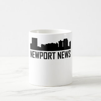 Newport News Virginia City Skyline Coffee Mug