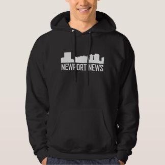 Newport News Virginia City Skyline Hoodie