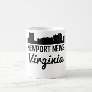 Newport News Virginia Skyline Coffee Mug