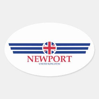 Newport Oval Sticker