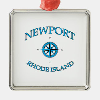 Newport Rhode Island Nautical Metal Ornament