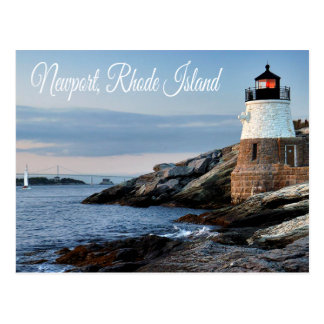 Newport Rhode Island Sunset Lighthouse  Postcard