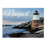 Newport Rhode Island Sunset Lighthouse  Postcard
