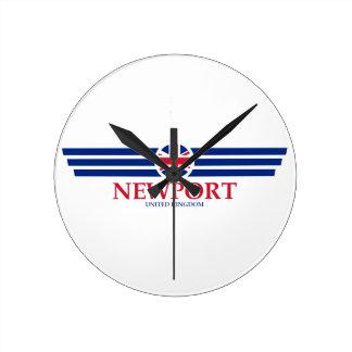 Newport Round Clock