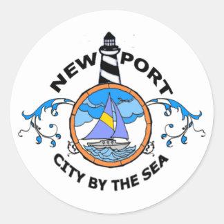 Newport. Round Sticker