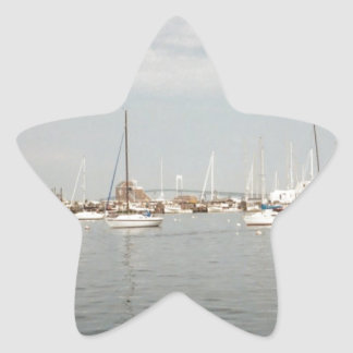 Newport sailing star sticker