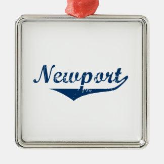 Newport Silver-Colored Square Ornament