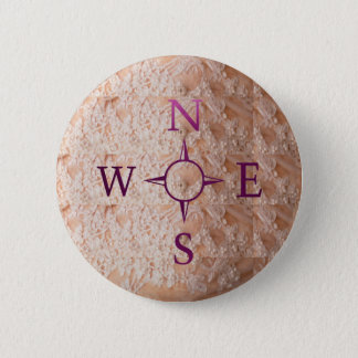 NEWS : Compass North East West South 2 Inch Round Button