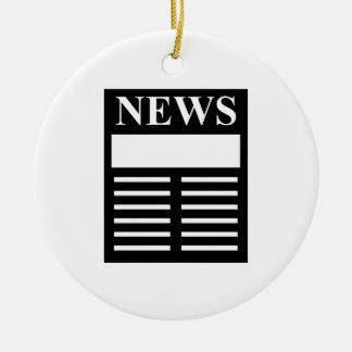 News Headlines Ceramic Ornament