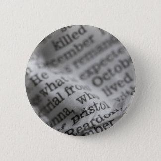 News paper 2 inch round button