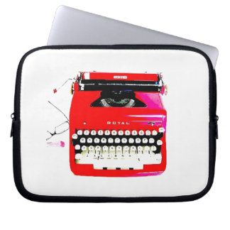 news reporter writer journalist Typewriter Laptop Sleeve