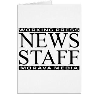 News Staff Greeting Card
