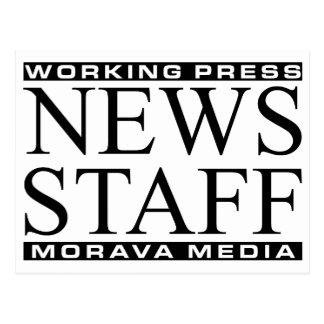 News Staff Postcard