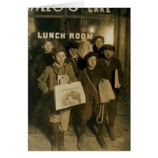 NEWSBOYS in New York Turn of Century Card