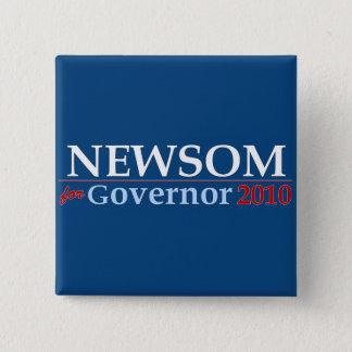 Newsom for Governor 2 Inch Square Button