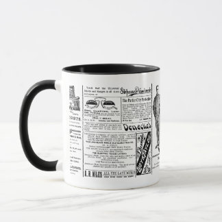 Newspaper #1 mug: ringer mug