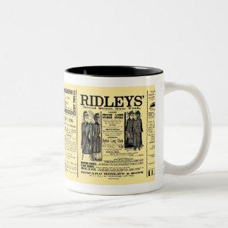 Newspaper #3 Two-Tone coffee mug