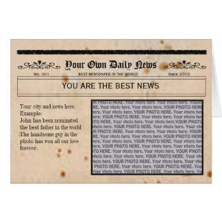 Newspaper  and Photo Frame Card
