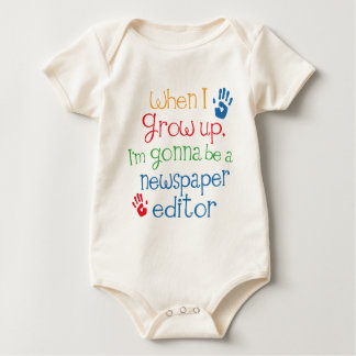 Newspaper Editor (Future) Child Baby Bodysuit