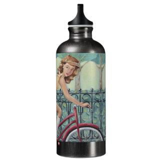 Newspaper Girl & Bicycle SIGG Water Bottle - Grey