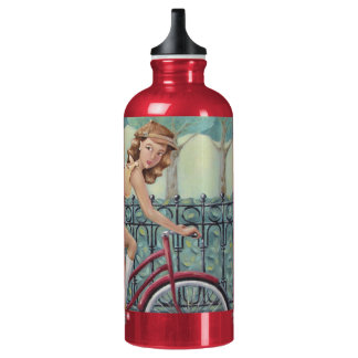 Newspaper Girl & Bicycle SIGG Water Bottle - Red