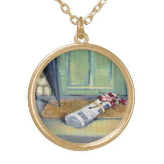 Newspaper Girl Charm Necklace