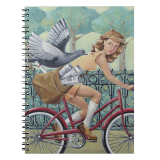 Newspaper Girl Notebook