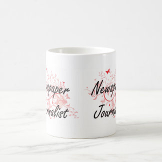 Newspaper Journalist Artistic Job Design with Butt Coffee Mug