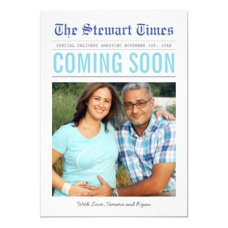 Newspaper | Pregnancy Announcement