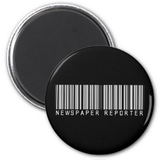 Newspaper Reporter Bar Code 2 Inch Round Magnet