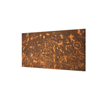 Newspaper Rock is a petroglyph panel etched in Canvas Print