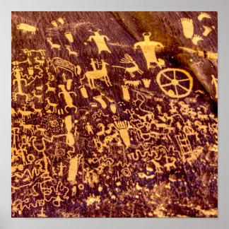 Newspaper Rock Petroglyph Indian Ancient Poster