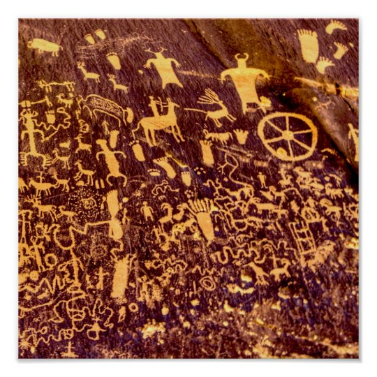 Newspaper Rock Petroglyph Indian Ancient Poster