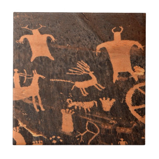Newspaper Rock Petroglyph Panel - Utah Tile