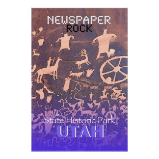 Newspaper Rock Poster
