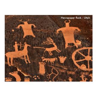 Newspaper Rock - Utah Postcard