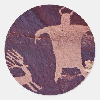Newspaper Rock, Utah, U.S.A. Classic Round Sticker