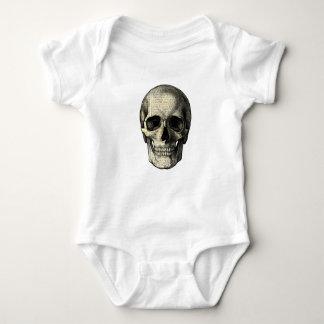 Newspaper skull baby bodysuit