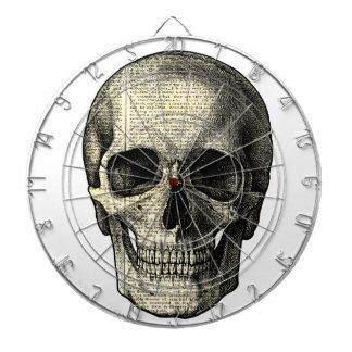 Newspaper skull dartboard