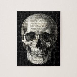 Newspaper skull jigsaw puzzle