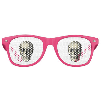 Newspaper skull retro sunglasses