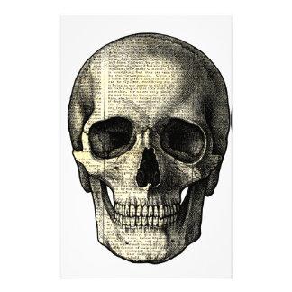 Newspaper skull stationery