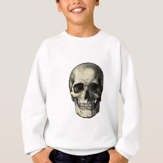 Newspaper skull sweatshirt
