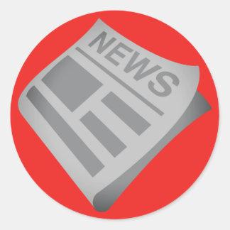 Newspapers Emoji Classic Round Sticker