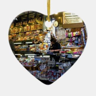 Newstand Ceramic Heart Ornament