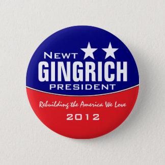 Newt Gingich 2 Inch Round Button