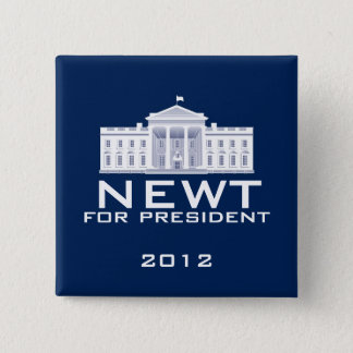Newt Gingrich 2012 2 Inch Square Button