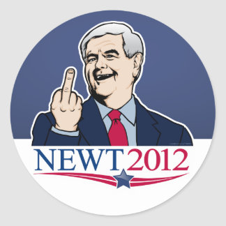 Newt Gingrich 2012 Gag Sticker Set