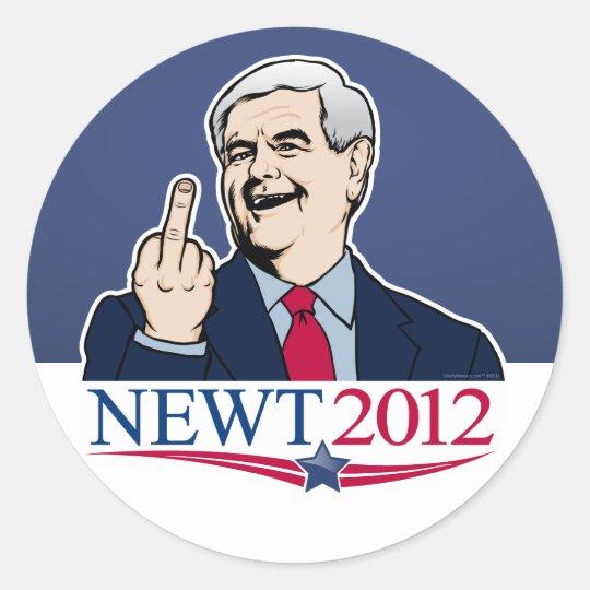 Newt Gingrich 2012 Gag Sticker Set