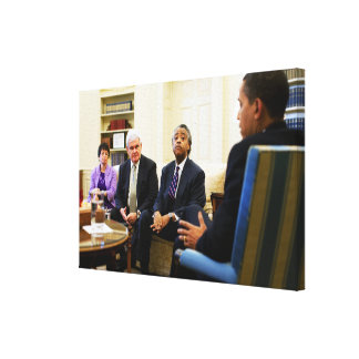 Newt Gingrich, Barack Obama, Jarrett & Sharpton Canvas Print